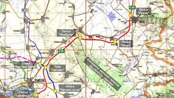 mapa vrsca Auto put Beograd Vršac treba da poveže tri evropska koridora  mapa vrsca